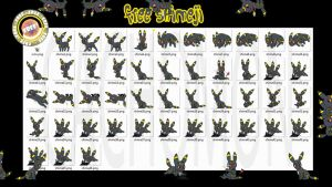Free the Umbreon Shimeji +FREE+ by Cachomon