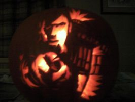 David Tennant Pumpkin by SuperCatSara