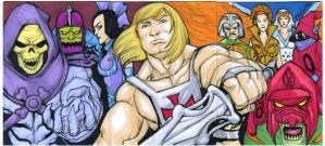 He-Man 3 skech card puzzle by mdavidct
