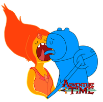 Flame Princess X Finn by Axcell1ben