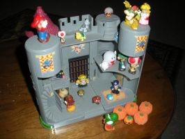 Mario: Bowser's Castle by CandleGhost