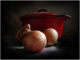 still-life with onions by BrokenLens
