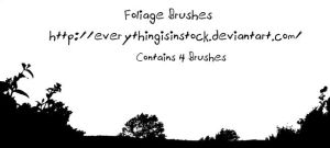 Foliage Brushes by EverythingIsInStock