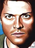 Supernatural-Castiel Sketch by Dr-Horrible