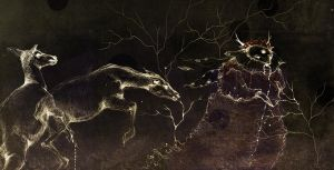 In the dark forest...were the deer leaves,part 01 by RedGella