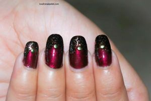 Burgundy Nails by Gorgeousnails
