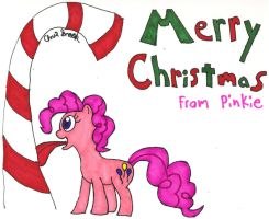 Merry Christmas From Pinkie Pie by shobonimaster