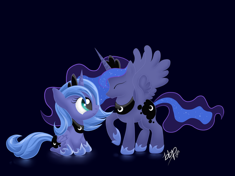 Luna and Woona by bbp-art