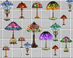 tiffany style lamps by puddlz