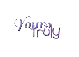TextoPNG| Yours Truly by YuliiEditiions
