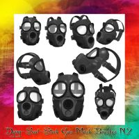 Gas Mask Brushes N.2 by dying-soul-stock