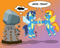 Pony vs. Dalek #8: Spitfire and Soarin by the-gneech