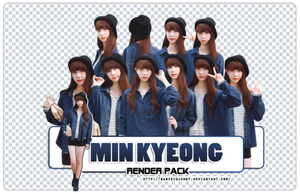 [RENDER-PACK] Min Kyeong by babykidjenny