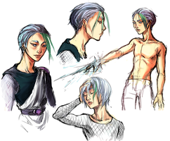 Touya sketches by nolawforthedamned