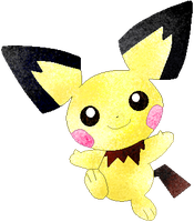 Pichu coloured by Sulfura