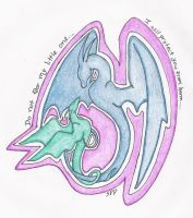 protect in color pencil by SunFireDemon