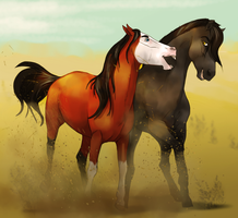 Brotherly NOM | Sparing Event by FeatherCandy
