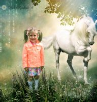 Girl with a fairy horse by Lada-KR