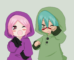 Nel Tu and Yachiru by firelover99