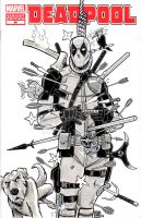 Deadpool Sketch Cover by timshinn73