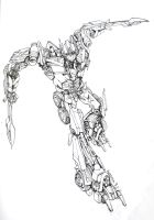 Optimus Prime_DOTM lineart by hosanna9