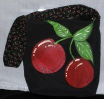 Cherry Painted Tote Bag by CherriKiss