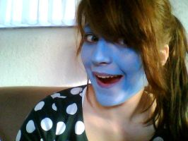 I am so blue...but not drunken at all by Bellaju