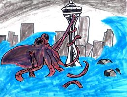 The Space Needle Octopus by SonicClone