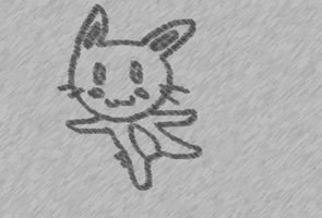 Floating Bunny-charcoal effect by MoMo2