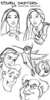Disney Sketches by drawken