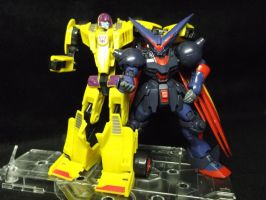 Dragstrip and Master Gundam best friends by forever-at-peace