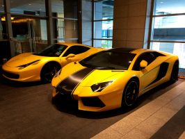 Yellow Supercars by A-Jen7