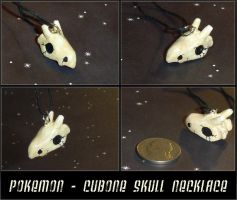 Pokemon Cubone Skull Necklace by YellerCrakka