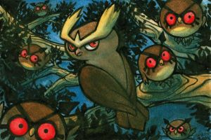 Noctowl and Friends by Mamath
