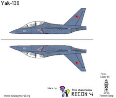 Yak-130 Sideview Final by BusterBuizel