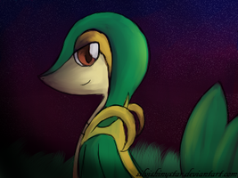 Snivy by SilviShinystar