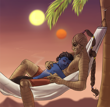 desert nap by MoonlitAlien