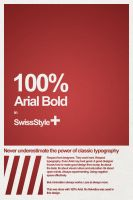 100 percent Arial Bold poster by zoopee