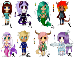 Adopts ~ Creatures ~ sold by Livawhatever