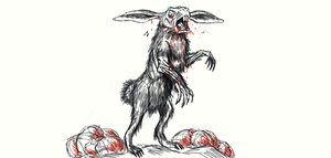 Quick Zombie Rabbit Sketch..for Bryanna.. by Brendanmockridge71