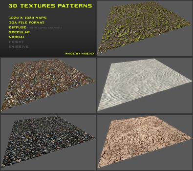 Free 3D textures pack 21 by Nobiax