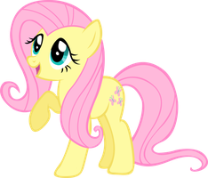 Fluttershy wingless - adorable by LilCinnamon