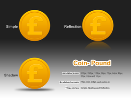 Coin-pound by customicondesign