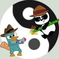 Platypus vs. Panda by chowder-lover
