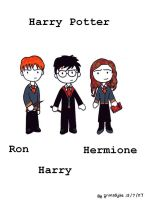 Harry, Ron and Hermione by grimsdyke