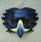 Black Eagle Leather Mask by merimask