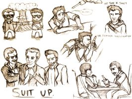 Uncharted Sketchdump by KimukoCat