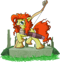 MLP Merida is Brave by apostlebird