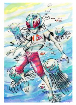 Jelly Kid - Watercolors by BRAINandFAT