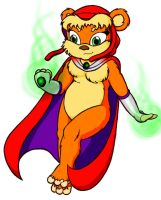 Starfire as an Ewok by Kkatman